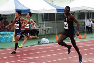 비웨사 추계 중고육상 남고부 100m 우승, 시즌 2관왕