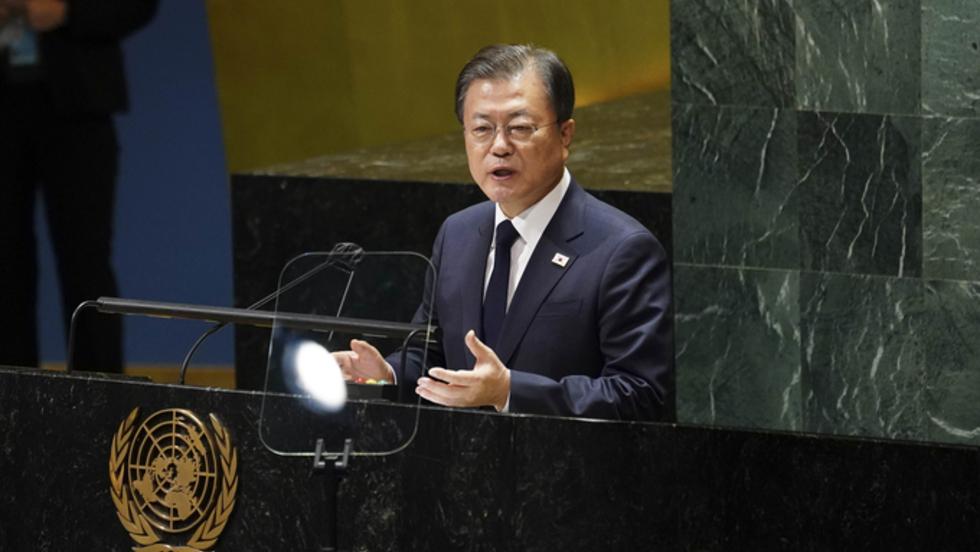 文, 마지막 유엔무대서 종전선언 승부수…北미사일 언급 없었다